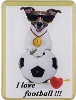 "Магнит из керамики Lefard ""i love football"" 4,5*6 см."